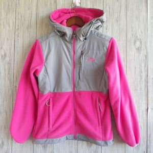 The North Face Hood Denali Fleece Jacket Sz Small